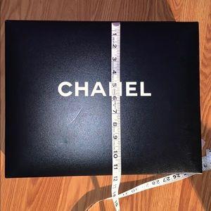 "Chanel Auth Black Purse Box 15"" x 12"" x 5"" Empty"